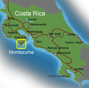 Anamaya Resort Costa Rica Location Map