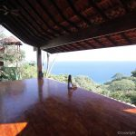 Yoga deck with ocean view