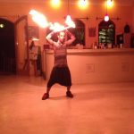 Fire dancing at Anamaya