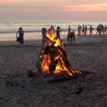 Beach bonfire at Playa Hermosa