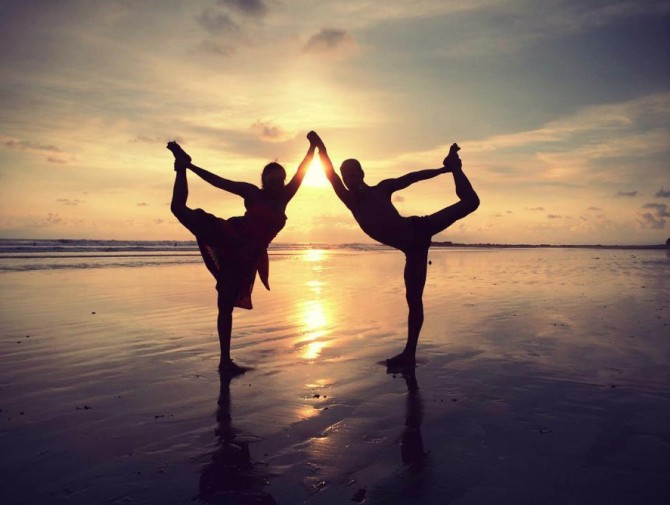 Sunset Yoga Pose copy